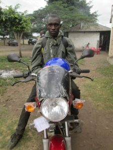 Emmanuel's new motorcycle front view