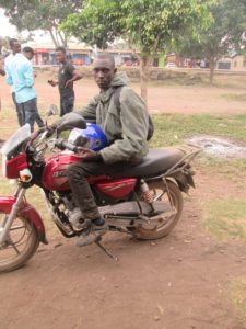 Emmanuel's new motorcycle side view